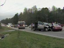 Two people were injured in a wreck at U.S. Highway 70, near Pleasant Drive, just outside Durham on Friday, March 25, 2011.