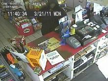 Roanoke Rapids police released a surveillance photo of a man believed to be involved in an attempted armed robbery at the Shell gas station at 15 Roanoke Ave. on Monday, March 21, 2011.