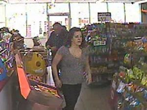 Roanoke Rapids police released a surveillance photo of a woman believed to be involved in an attempted armed robbery at the Shell gas station at 15 Roanoke Ave. on Monday, March 21, 2011.