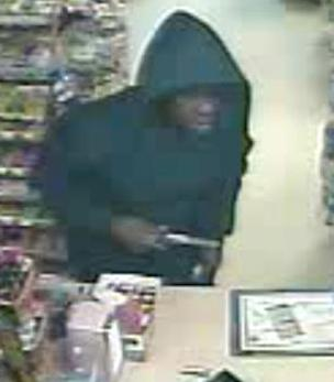 Raleigh police released this surveillance footage of a man armed with a handgun who robbed a clerk at the Marathon Star Mart, 1641 Glenwood Ave., shortly before 9 p.m. on March 29.