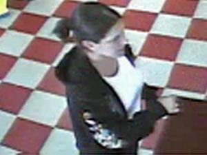 Wilson police released this surveillance footage of a woman involved in an armed robbery at Griffin's Food Store, 2402 Nash St., around 6:15 p.m. Tuesday, April 5, 2011.