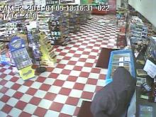 Wilson police released this surveillance footage of a man involved in an armed robbery at Griffin's Food Store, 2402 Nash St., around 6:15 p.m. Tuesday, April 5, 2011.