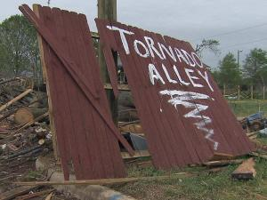 "Residents of Summit Avenue in south Raleigh renamed their street ""Tornado Alley"" after an April 16, 2011, twister tore through the area."