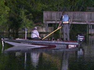 Crews search Silver Lake, north of Wilson, for Bobby Ray Winstead, 71, who disappeared while fishing on the lake Tuesday, April 26, 2011, Sheriff Calvin Woodard Jr. said.