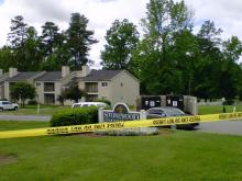 Durham police were investigating a suspicious death at the Stonewood Apartment Homes complex, on Newby Drive, on May 4, 2011.