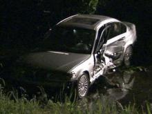 A BMW crashed on Capital Boulevard near Fenton Street and landed in a creek on May 10, 2011.