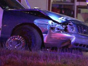 A Raleigh police cruiser and a BMW crashed on Capital Boulevard near Fenton Street on May 10, 2011.