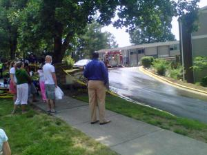 A fire broke out in the leasing office of an apartment complex at 1933 North Hills Drive in the late morning of Sunday, May 22, 2011.