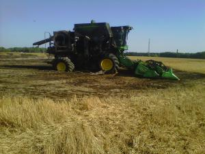 A Nash County farmer working in his wheat field escaped injury on June 2, 2011, when his combine caught fire, authorities said.