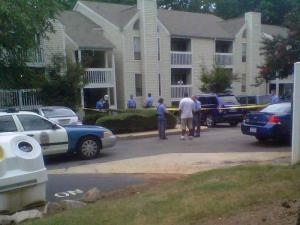 A person was shot at a north Raleigh apartment community Sunday evening, police said. Officers were dispatched to 4601 Lynn Point Lane shortly before 6 p.m. for a shots-fired call. The victim was taken to WakeMed Hospital for treatment of non-life-threatening injuries, police said.