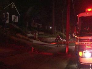Fire damaged a Raleigh house early Tuesday, leaving two people displaced.