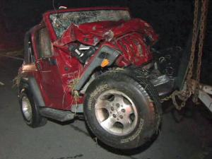 """John """"Sonny"""" Johnson and his wife, Annette Johnson, died Aug. 19, 2011, after a Pennsylvania driver crashed into their red Jeep, authorities said.  The Pennsylvania driver also died in the crash."""