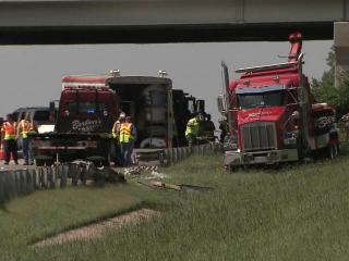 A wreck on Interstate 40 near the Harrison Avenue exit in Wake County involving two tractor trailer trucks and a car caused traffic delays and congestion in the area for several hours Monday afternoon, according to the state Highway Patrol.