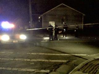 Police were on the scene of a shooting off of Dowd Street in Durham on Sept. 15, 2011.