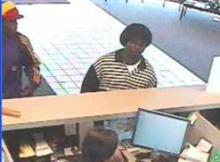 Fayetteville polcie released this surveillance photo of two men suspected of robbing the Lumbee Bank, 6313 Raeford Road, around 3:30 p.m. on Oct. 14, 2011.