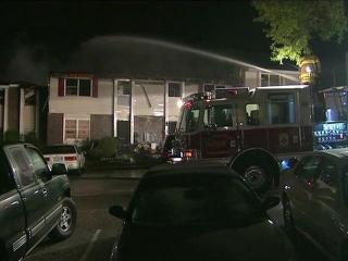 A fire in an eight-unit condominium building at 579 Winding Creek Road in Fayetteville displaced 24 people early Wednesday, Oct. 26, 2011.
