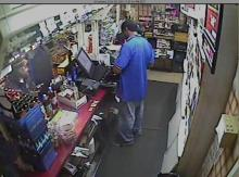 Surveillance images from an Exxon store, 502 Grove St. in Fayetteville, on Oct. 29