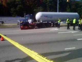 A tanker truck hit the back of a tractor on Bragg Boulevard in Spring Lake on Nov. 7, 2011, killing the tractor's driver, authorities said.