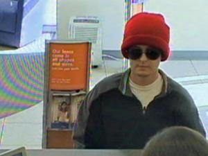 Surveillance image from SunTrust Bank robbery in Youngsville.