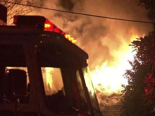 Raleigh firefighters were called out to the blaze at a home in the 1700 block of Canterbury Road, near Lake Boone Trail, around 2:30 a.m. Wednesday, Nov. 16, 2011.