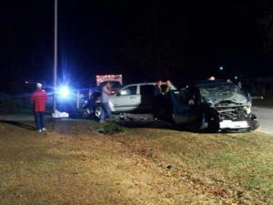 Witnesses to a three-car wreck that sent multiple people to the hospital Monday night, including a 2-year-old child and an infant, said it happened in two parts and sounded like a bomb went off.