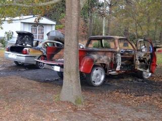 The Molotov cocktail-type devices were used to set fire to a 2000 Chevrolet Impala and a 1971 Dodge pickup in Parkton on Dec. 13, 2011. Robeson County deputies recovered a third, unexploded device. (Photo courtesy of Robeson County Sheriff's Office)