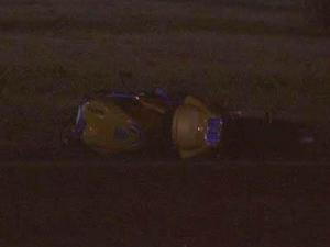 A man died Friday night in Raleigh when he hit a car with his motorcycle.