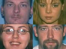 Clockwise from top left: Timothy Moran, Toni Draper, Jerry Draper III and Lauren Draper