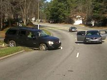 Raleigh police closed New Hope Road at Wallingford Drive on Jan. 15, 2012, to investigate a robbery and assault.