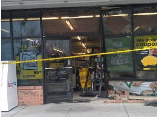 A car plowed into the Rolesville Dollar General Monday, Jan. 16, 2012.