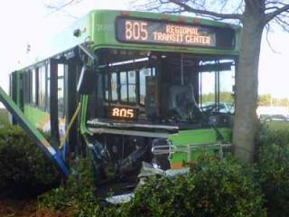 At least four people suffered minor injuries when a Triangle Transit Bus and a tow truck collided at the intersection of North Carolina Highway 54 and South Miami Boulevard in Durham on Jan. 25, 2012.