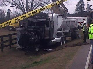The driver of an Isuzu Trooper was killed on Feb. 6, 2012, in a head-on collision with a tractor-trailer on Swanns Station Road at Pecan Lane south of Sanford.