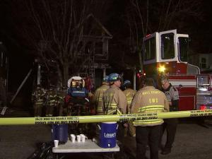 Fire engulfed a house on New Bern Avenue in Raleigh Saturday evening, displacing a couple and three children, police said.