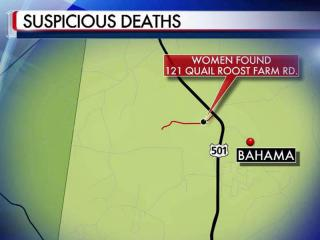 The bodies of two women were found inside a house near Rougemont on Feb. 27, 2012. The cause of death hasn't been determined.
