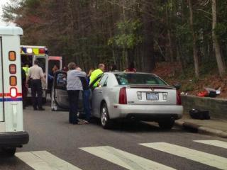 A fifth-grader and a high school student were struck by a car in front of Baucom Elementary School in Apex Friday afternoon, March 2, 2012. (Photo courtesy of Jan Stenulis)