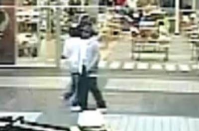 Rocky Mount police released a surveillance image Tuesday of two men believed to have information about a mall shooting that injured a 13-year-old boy.