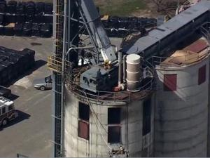 Emergency crews battled a fire at Nature's Earth Pellet Energy, at 16900 Aberdeen Road in Laurinburg, Thursday morning, March 8, 2012.