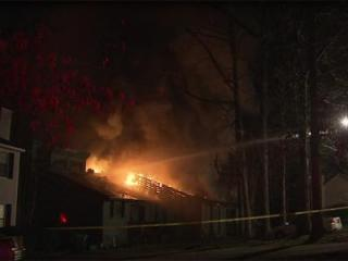 Fire crews say a duplex on Arckleton Drive was badly damaged early Friday after a cigarette sparked a fire on the back porch.