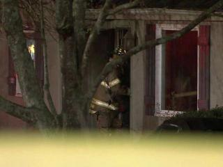 Firefighters rescued an elderly man trapped in a burning house at at 4125 Kincaid Drive in northeast Raleigh's Oakmont subdivision Sunday, March 18, 2012.