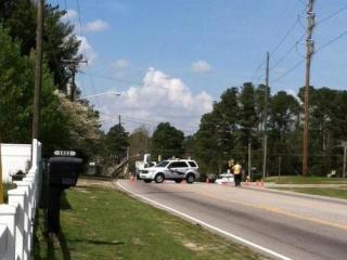 A Cumberland County ambulance crashed at the intersection of Village and Ireland drives Friday afternoon, March 23, 2012. (Photo courtesy of Debra)