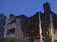 Fire damaged several units at the Barton's Landing Place Apartments in Fayetteville Wednesday, March 28, 2012.