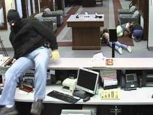A masked man brandishing a handgun robbed a BB&T bank on Beaver Creek Commons Drive in Apex on March 29, 2012.