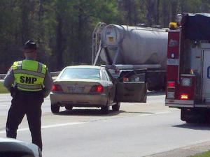 A driver trying to get on Interstate 40 in Garner on April 2, 2012, hit a pedestrian on the ramp, authorities said.