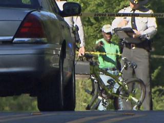 A car hit a bike in Raleigh off Rock Quarry Road Saturday, sending the rider to the hospital.