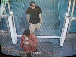 Garner police are searching for three men who robbed a Best Buy at White Oak Shopping Center in Garner Monday, April 16, 2012, and showed what appeared to be a gun.