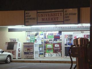 The Durham police say a clerk shot a customer after an argument at University Market, 1108 W. Chapel Hill St., on April 30, 2012.