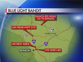 Blue light bandit locations