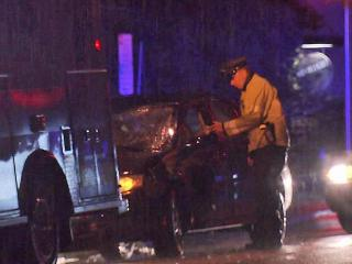 Raleigh police said that an intoxicated driver and passenger were injured in a single-vehicle wreck on Philcrest Road, near Leadmine Road, late Saturday, May 5, 2012.