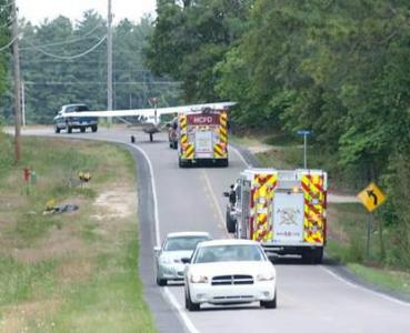 Four skydivers and a pilot were safe after their plane lost power during a flight in Hoke County on Saturday, May 5, 2012. (Photo by James Hawthorne/Fayetteville Observer)