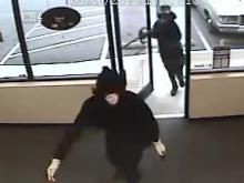 Garner police are searching for two men who they say robbed the Fortune Sweepstakes Sunday at 7 p.m.